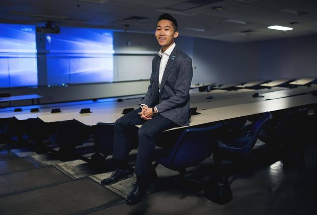 Business student's biggest sales job was himself